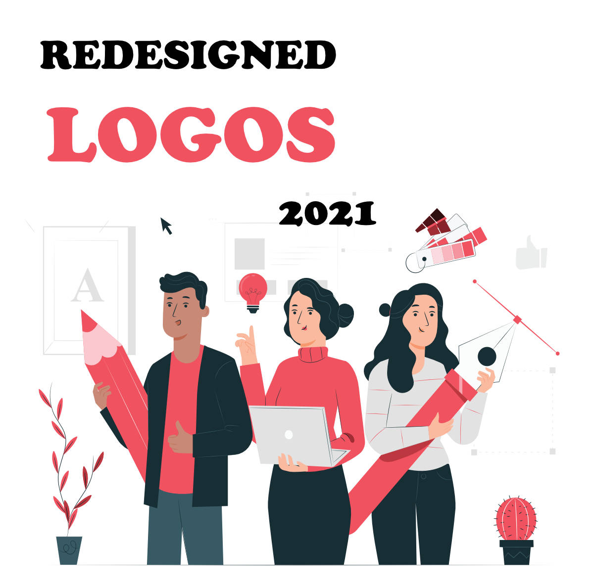 Logos redesigned in 2021 Visually Simplified